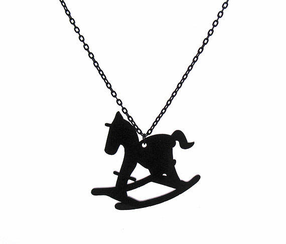 Jewelry Jewelry - Hobby Horse Pendant With Long Chain by Rony Bank