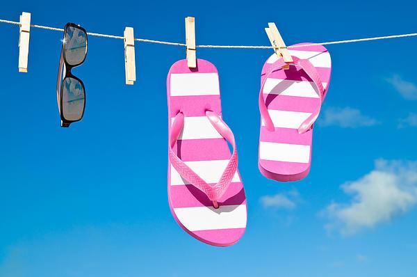 Washing Photograph - Holiday Washing Line by Amanda Elwell