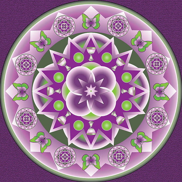 Kaleidescope Drawing - Holy Week Mandala by Linda Pope
