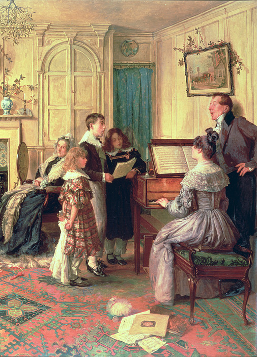 Interior Painting - Home Sweet Home by Walter Dendy Sadler