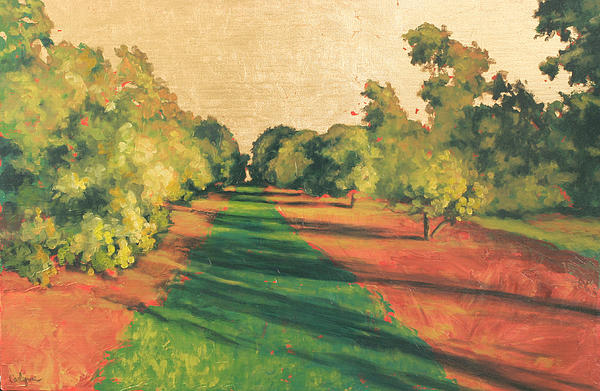 Landscape Painting - Homestead Grove 7 by Carlynne Hershberger