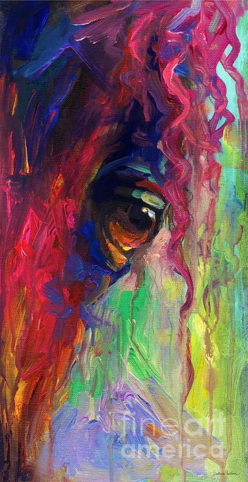 Horse Eye 2 Painting - Horse Eye Portrait  by Svetlana Novikova