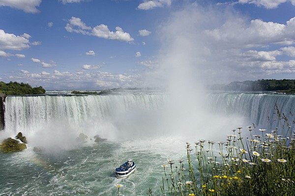 Attraction Photograph - Horseshoe Falls With Maid Of The Mist by Peter Mintz