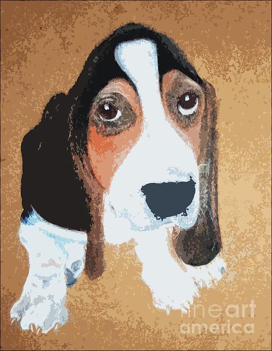 Basset Hound Digital Art - Hound Dog by Rachel Barrett
