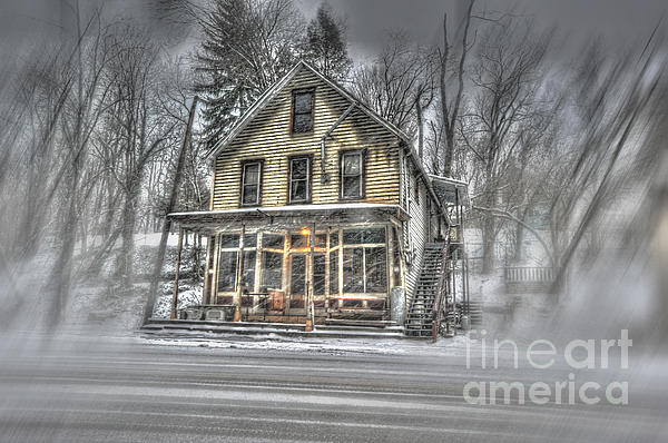 House Photograph - House In Snow by Dan Friend