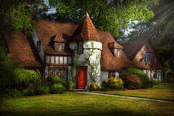 Castle Photograph - House - Westfield Nj - Fit For A King by Mike Savad