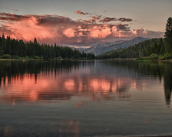 Lake Photograph - Hume Lake Sunset by Terry Garvin