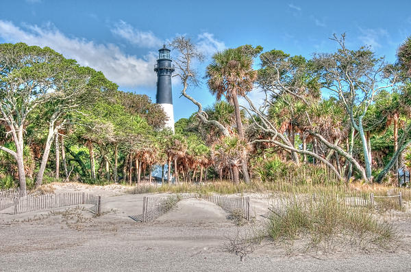 Lighthouse Photograph - Hunting Island - Beach View by Scott Hansen