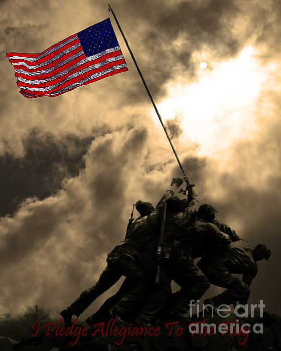 Iwo Jima Photograph - I Pledge Allegiance To The Flag - Iwo Jima 20130211v2 by Wingsdomain Art and Photography