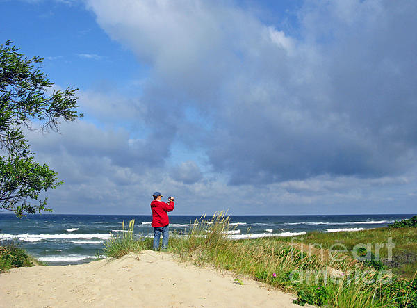 Landscape Photograph - I See The Sea. Juodkrante. Lithuania by Ausra Huntington nee Paulauskaite