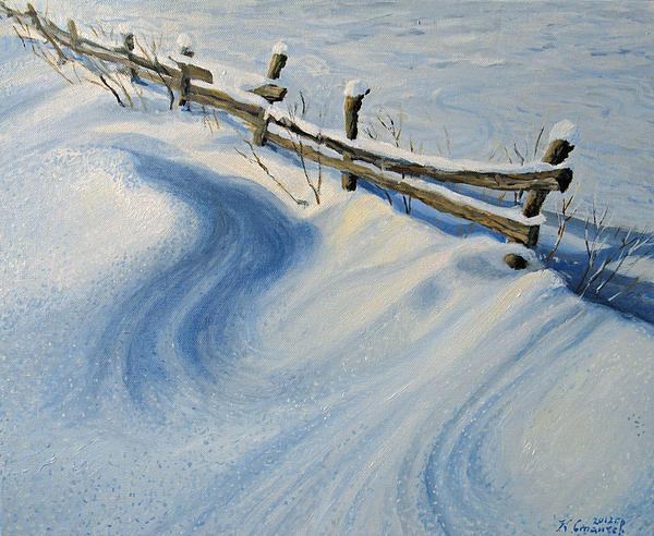 Art Painting - Ice Glitter by Kiril Stanchev
