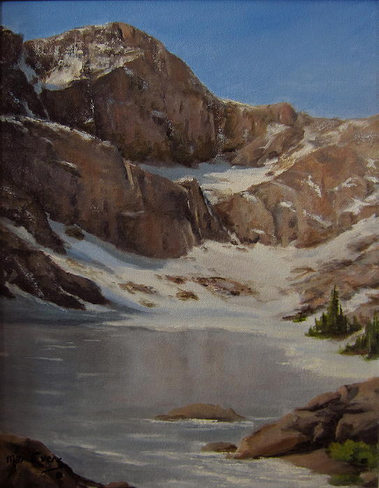 Landscape Painting - Ice Lake - July  by Mar Evers