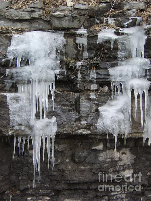 Ice Photograph - Icy Ledges by Margaret McDermott