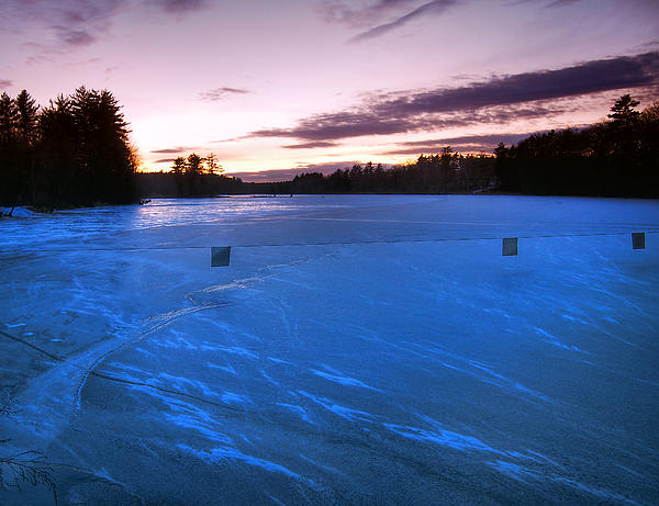 Nashua Photograph - Icy Sunset by Joann Vitali