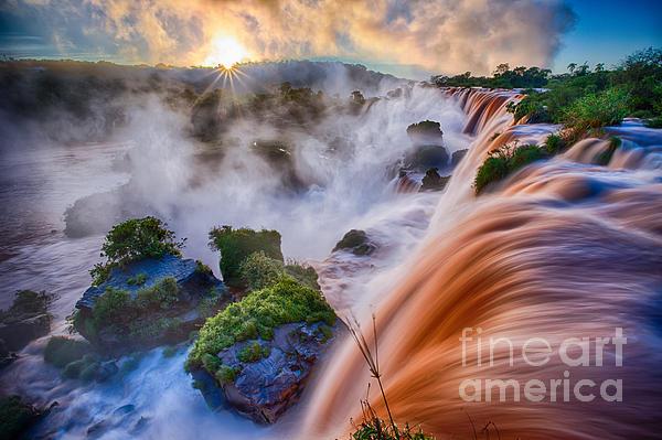 America Photograph - Iguazu Sunrise by Inge Johnsson