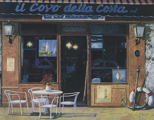 Bar Painting - Il Covo Della Costa by Guido Borelli