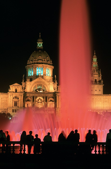 Photograph - Illuminated Fountain by Ken Straiton