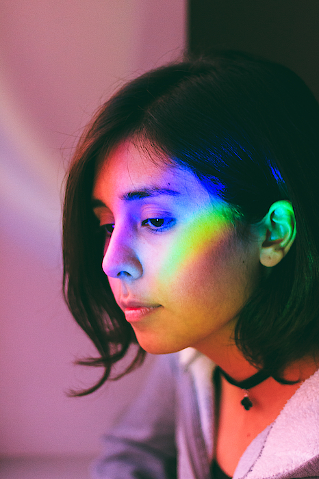 Illuminated Light Falling On Thoughtful Woman Face Photograph by Camilo Fuentes Beals / EyeEm