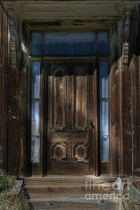 Door Photograph - Illuminating The Past - Bodie by Sandra Bronstein