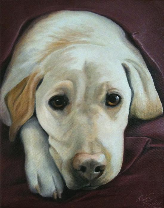 Yellow Lab Painting - Im Ready For Bed by Debbie Finley