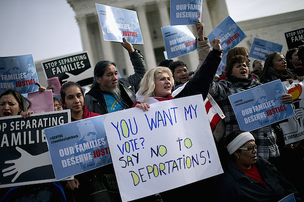 Immigration Activists Rally In Front Of U.s. Supreme Court Photograph by Chip Somodevilla