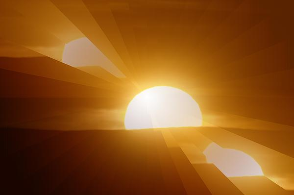 Sun Photograph - In All The Glory by Jeff Swan
