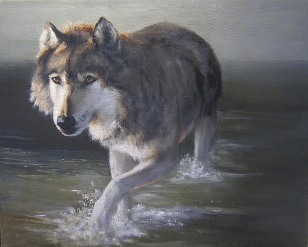 Animals Painting - In Controversial Waters  by Mar Evers