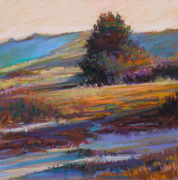Morning Painting - In The Dunes by Ed Chesnovitch