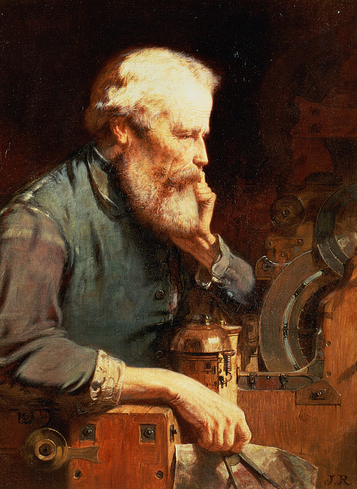 Beard Painting - In The Workshop by John Ritchie