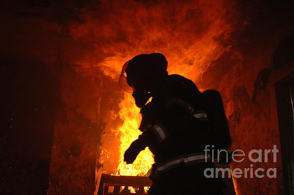 Firefighter Photograph - Inferno by Steven Townsend