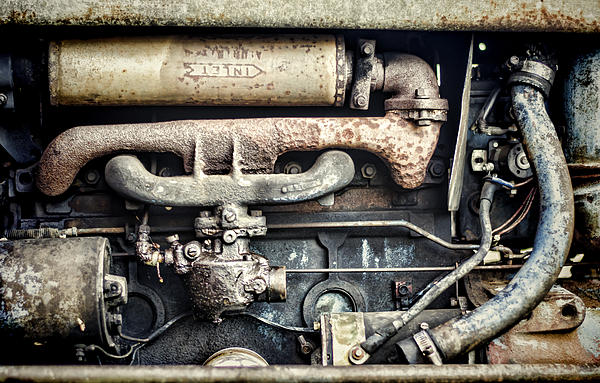 Tractor Photograph - Innards by Heather Applegate
