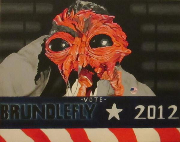 Brundlefly The Fly Political Propaganda Poster Painting - Insect Politician by Chris Fern