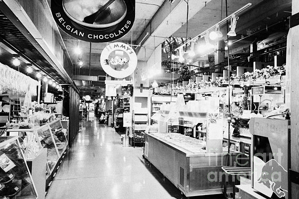 Lonsdale Photograph - inside lonsdale quay market shopping mall north Vancouver BC Canada by Joe Fox