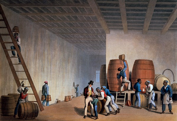 Slave Drawing - Inside The Distillery, From Ten Views by William Clark