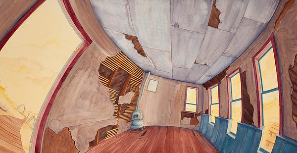 One-room Schoolhouse Painting - Inside The Old School House IIi by Scott Kirby