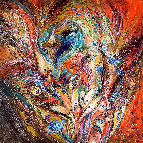 Original Painting - Inside The Vortex Of The Premonitions by Elena Kotliarker