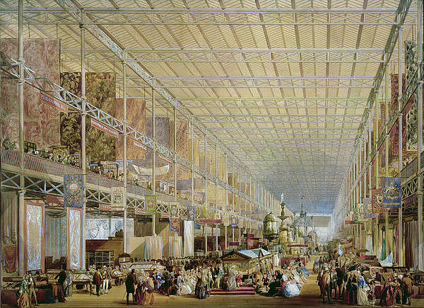 Architecture Drawing - Interior Of The Great Exhibition Of All by Edmund Walker