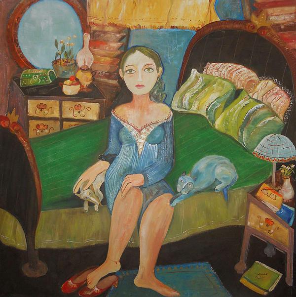 Woman Painting - Intimidad by Sandra Dooley