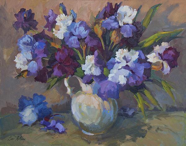 Irises Painting - Irises by Diane McClary