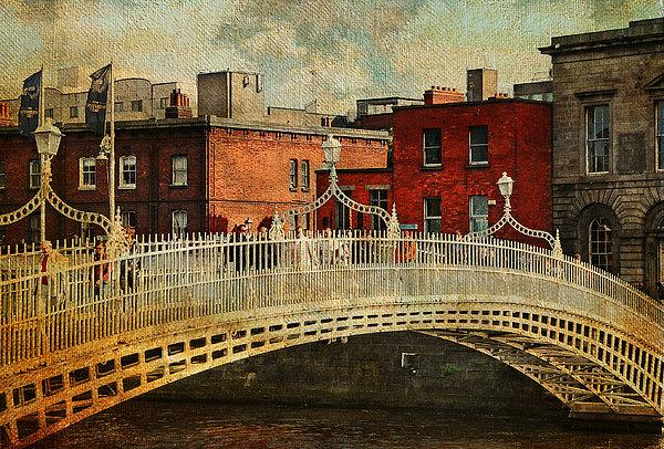 Ireland Photograph - Irish Venice. Streets Of Dublin. Painting Collection by Jenny Rainbow