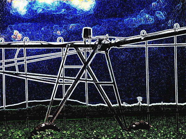 Irrigation Digital Art - Irrigation by Wendy J St Christopher