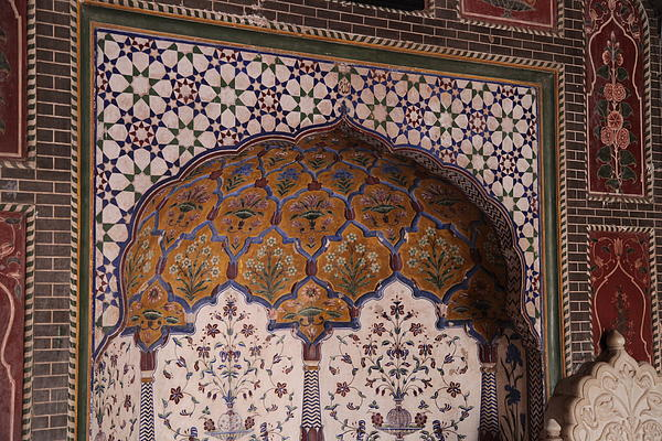 Islamic Photograph - Islamic Geometric Design At The Shahi Mosque by Murtaza Humayun Saeed