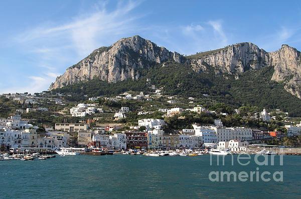 Yachts Photograph - Island Capri Panoramic Sea View by Kiril Stanchev