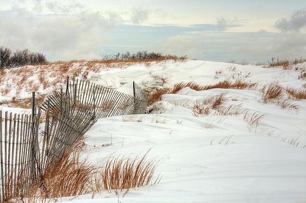 Jones Beach Photograph - Island Snow by JC Findley