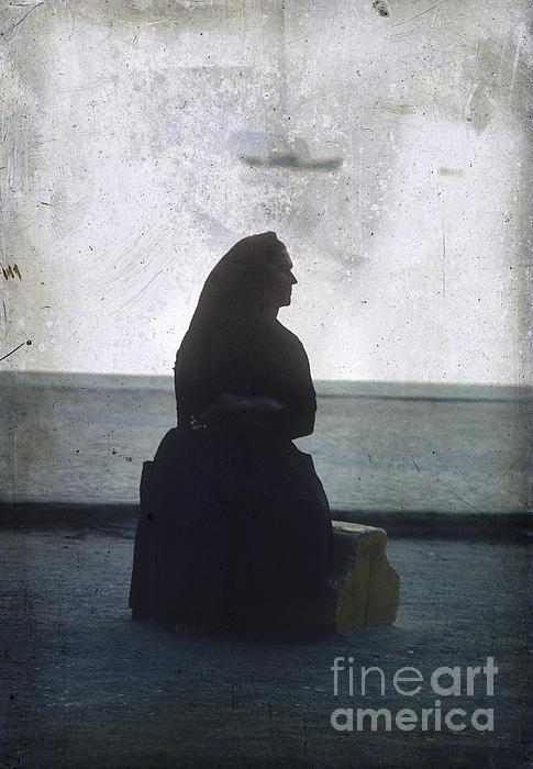 Outdoors Photograph - Isolated Woman by Bernard Jaubert