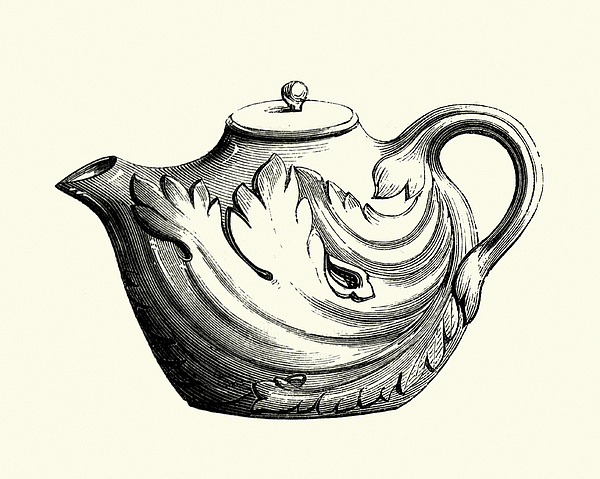Italian Earthenware Teapot, 18th Century Drawing by Duncan1890