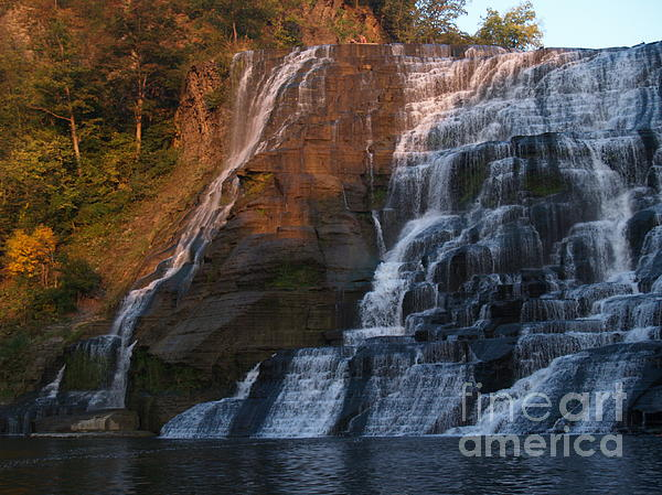Ithaca Photograph - Ithaca Falls  --  Late Afternoon by Anna Lisa Yoder