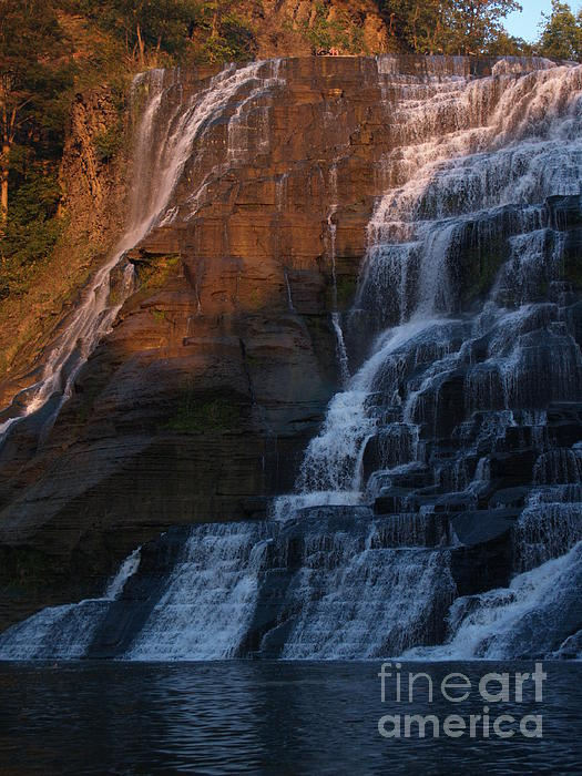 Ithaca Falls Photograph - Ithaca Falls In Autumn by Anna Lisa Yoder