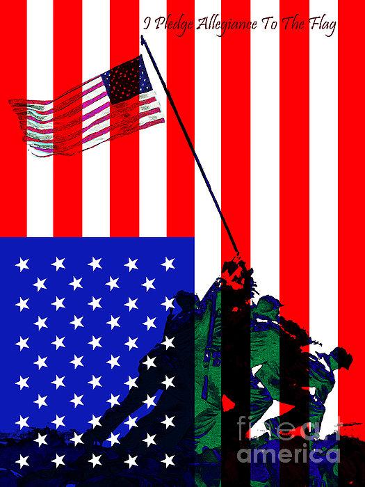 Iwo Jima Photograph - Iwo Jima 20130210 I Pledge Allegiance To The Flag by Wingsdomain Art and Photography