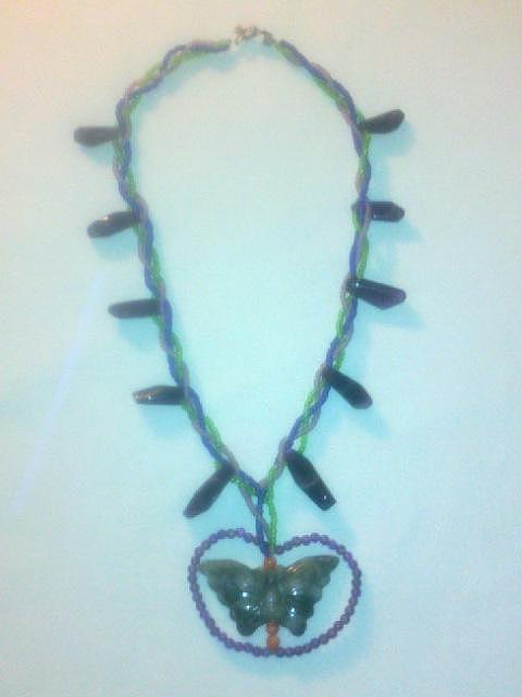 Butterfly Jewelry - Jade Butterfly by Lyras Prism